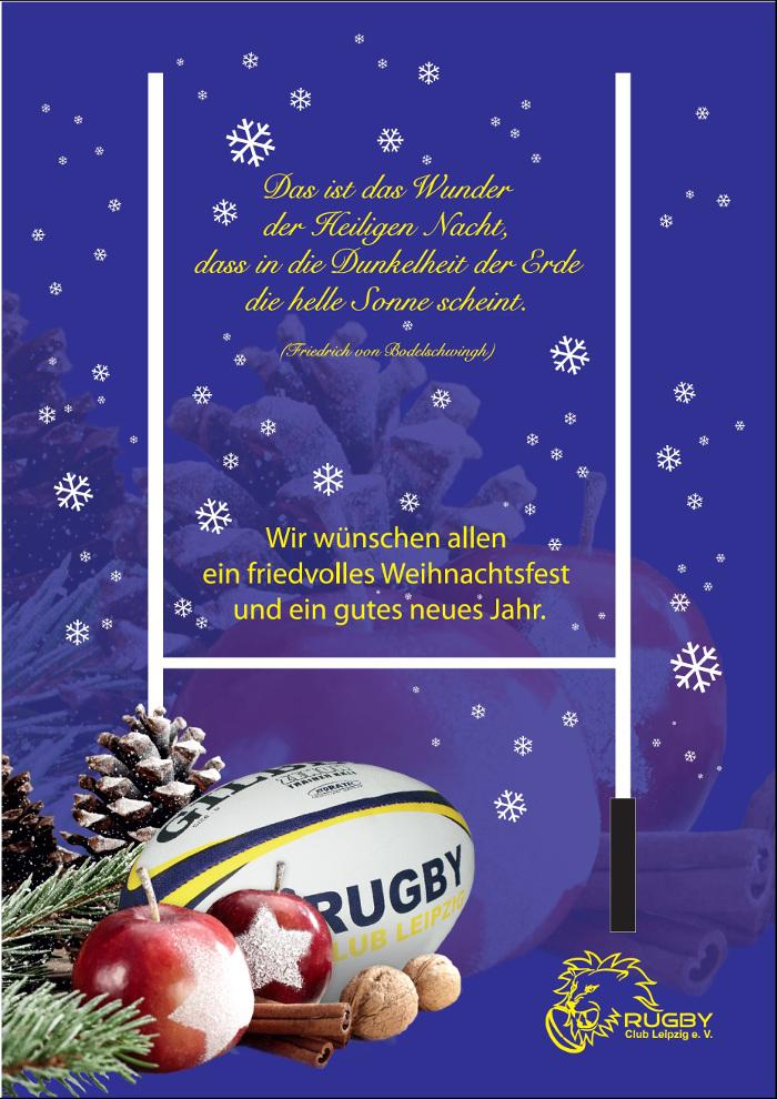 Der Rugby Club Leipzig wünscht allen Mitgliedern und Freunden ein ...