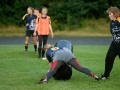 Training der Frauen-Rugbymannschaft des Leipziger Rugbyclub auf dem Trainingsgelände in Leipzig-Stahmeln. Foto: Dirk Knofe
